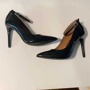 Dollhouse Black Pointed Toe Patent Heels